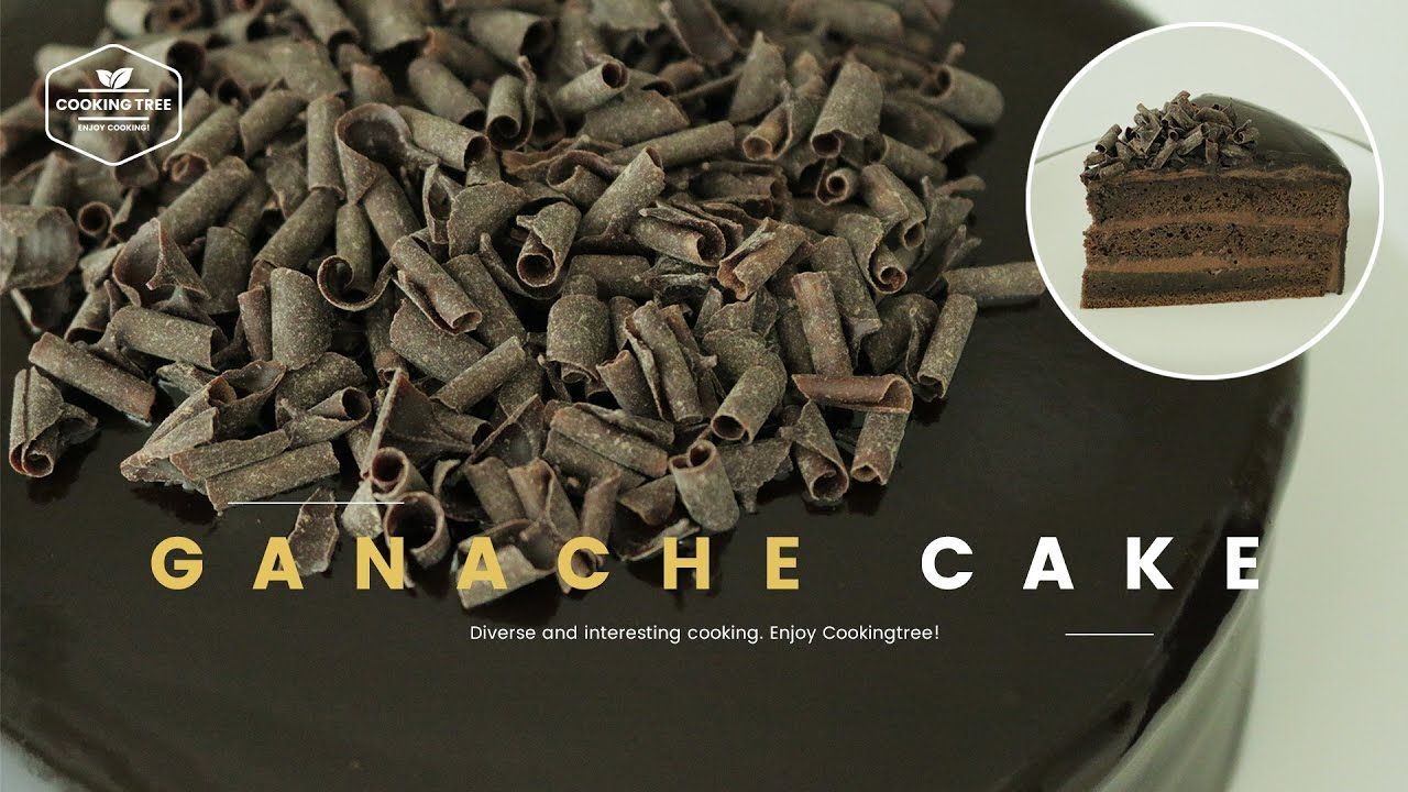 초콜릿 가나슈 케이크 만들기 : Chocolate Ganache Cake Recipe : チョコレートケーキ -Cookingtree...
