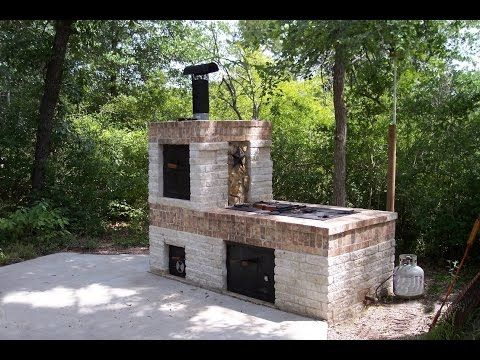 Build Your Own Backyard Cinder Block Grill Easy Youtube Brick