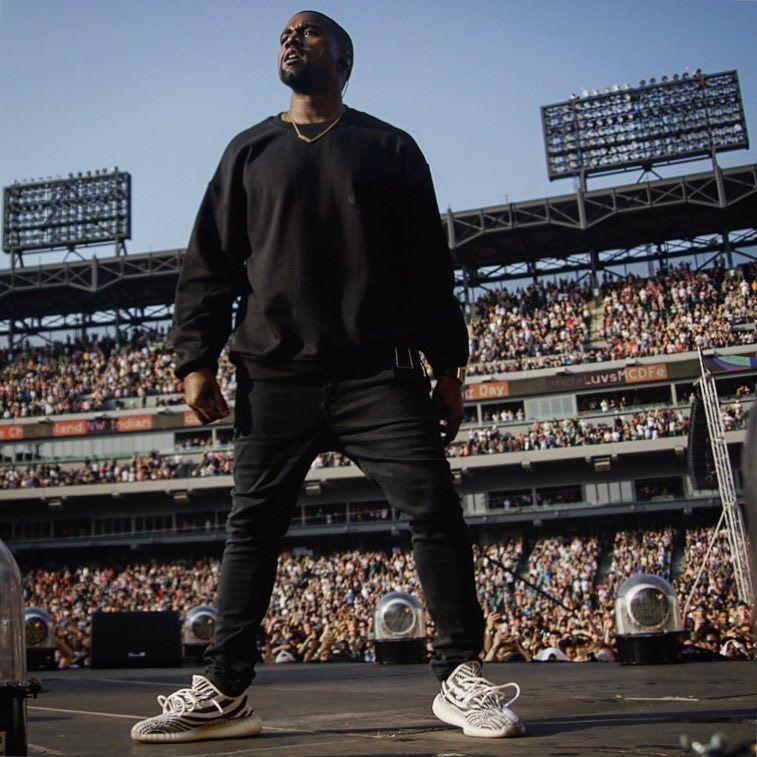 Kanye West Wearing Unreleased Adidas Yeezy Boost V2 White Black Kanye West Kanye West Outfits Kanye West Family