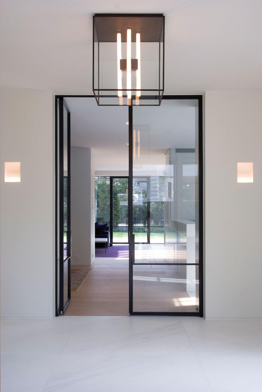 Entry hallway lighting  Glenn Reynaert  Doors  Pinterest  Glass doors Clever and Interiors