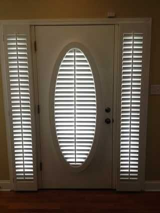 Interior Shutters Shades Blinds Door Coverings Front Door Curtains Oval Window
