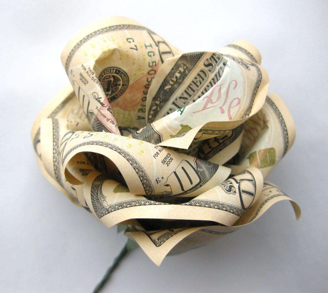 10 Bill Rose Flower Money Origami Dollar Bill Art Gifts