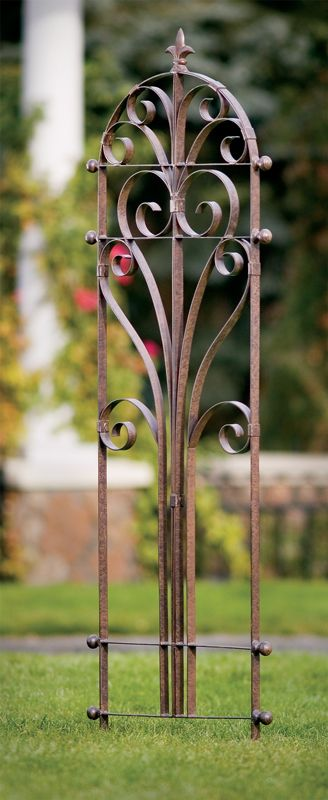 The Italian Iron Trellis Adds A Feeling Of Elegance And Charm To