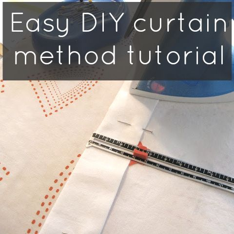 Minha fácil cortina método tutorial