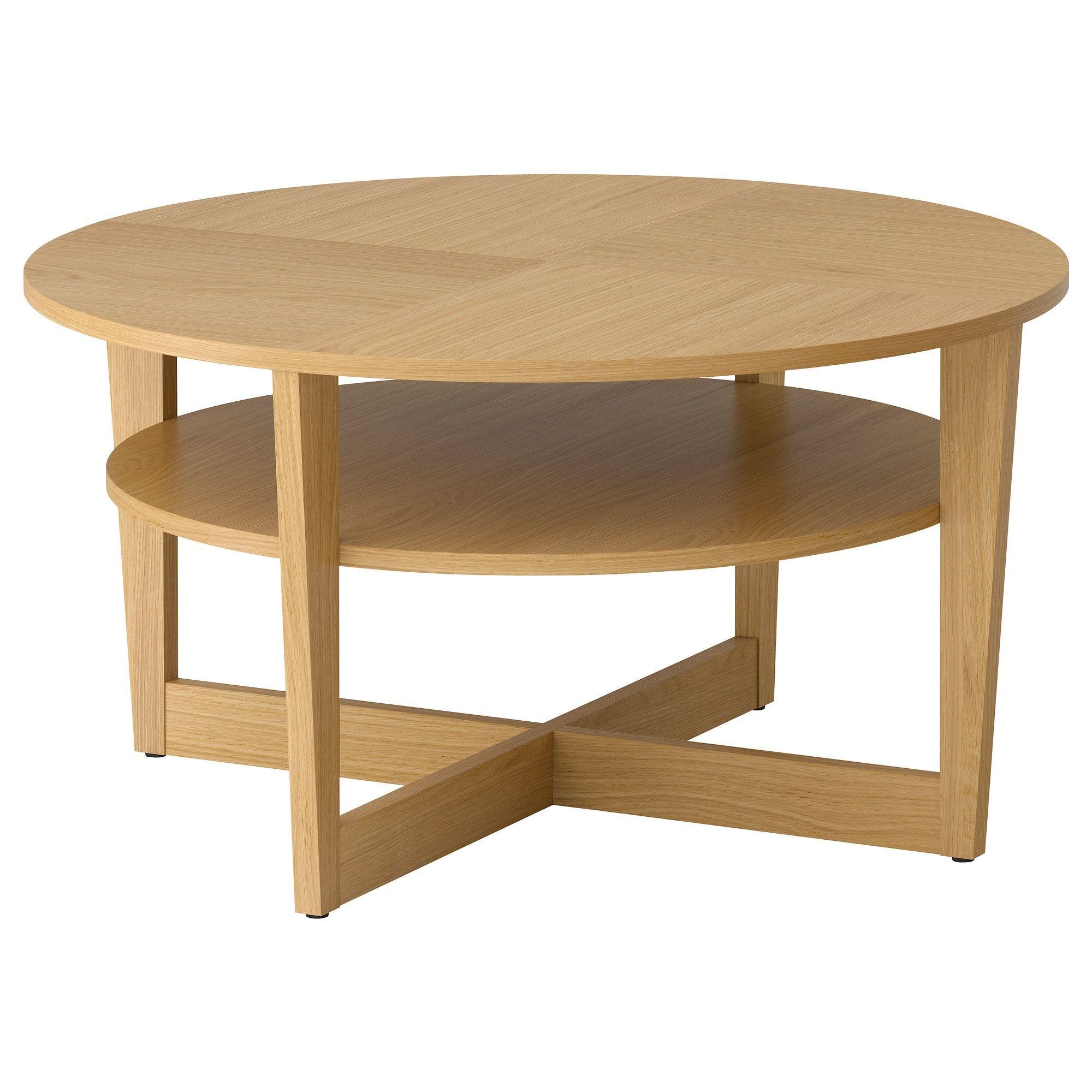 Vejmon Oak Veneer Coffee Table 90 Cm Ikea Ikea Coffee Table Round Coffee Table Ikea Coffee Table [ 2000 x 2000 Pixel ]