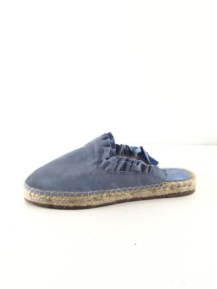 1b8a995372d2 1638 NEW Kate Spade Laila Blue Suede Espadrille Flat Mules Women s Sz 6 M