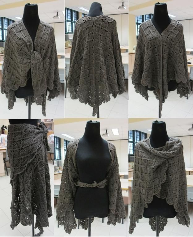 Free Crochet Patterns For Shawls And Wraps | Crochet clothing ...