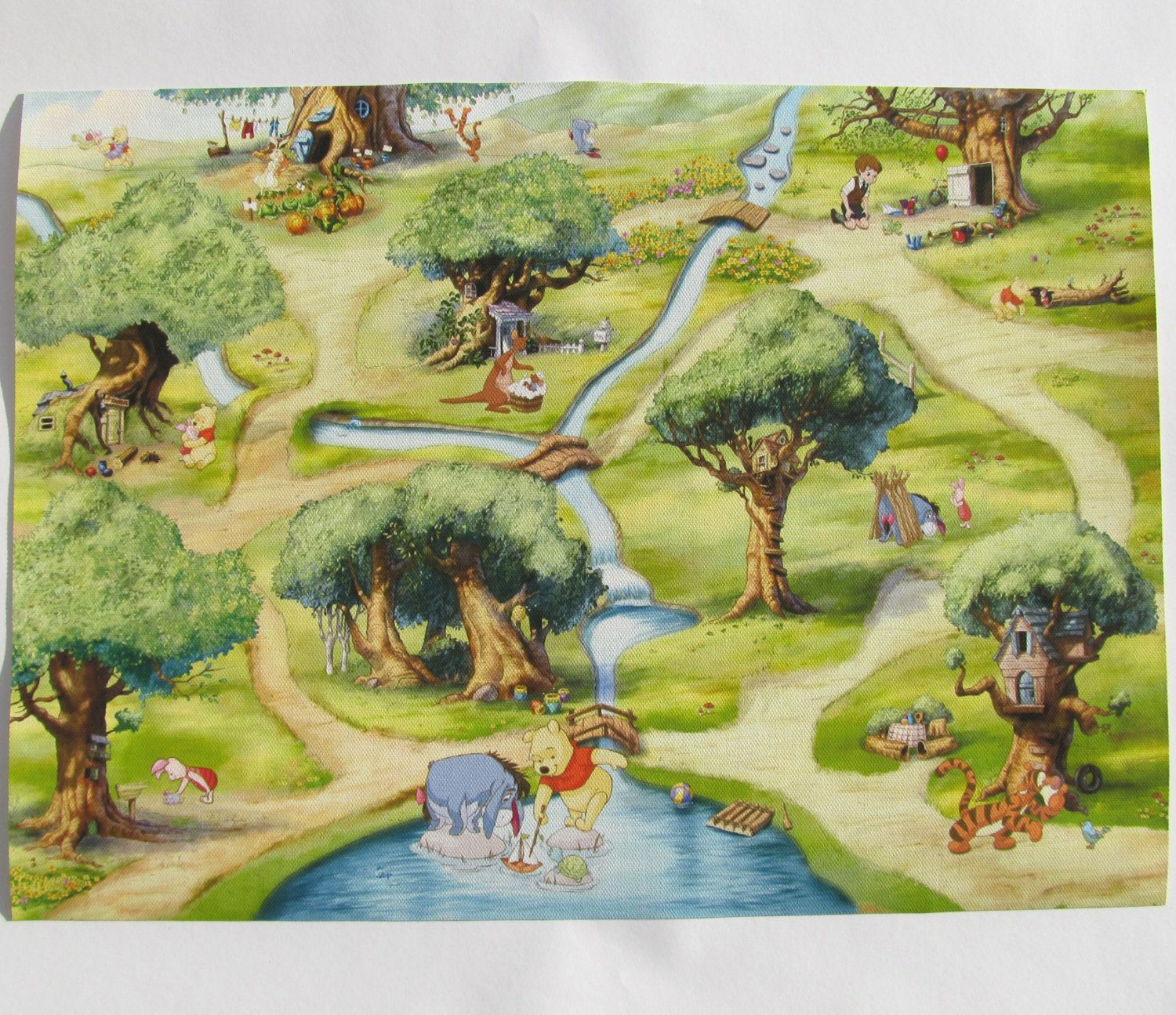 Winnie The Pooh Map , Matte Canvas Print, The perfect addition to ...