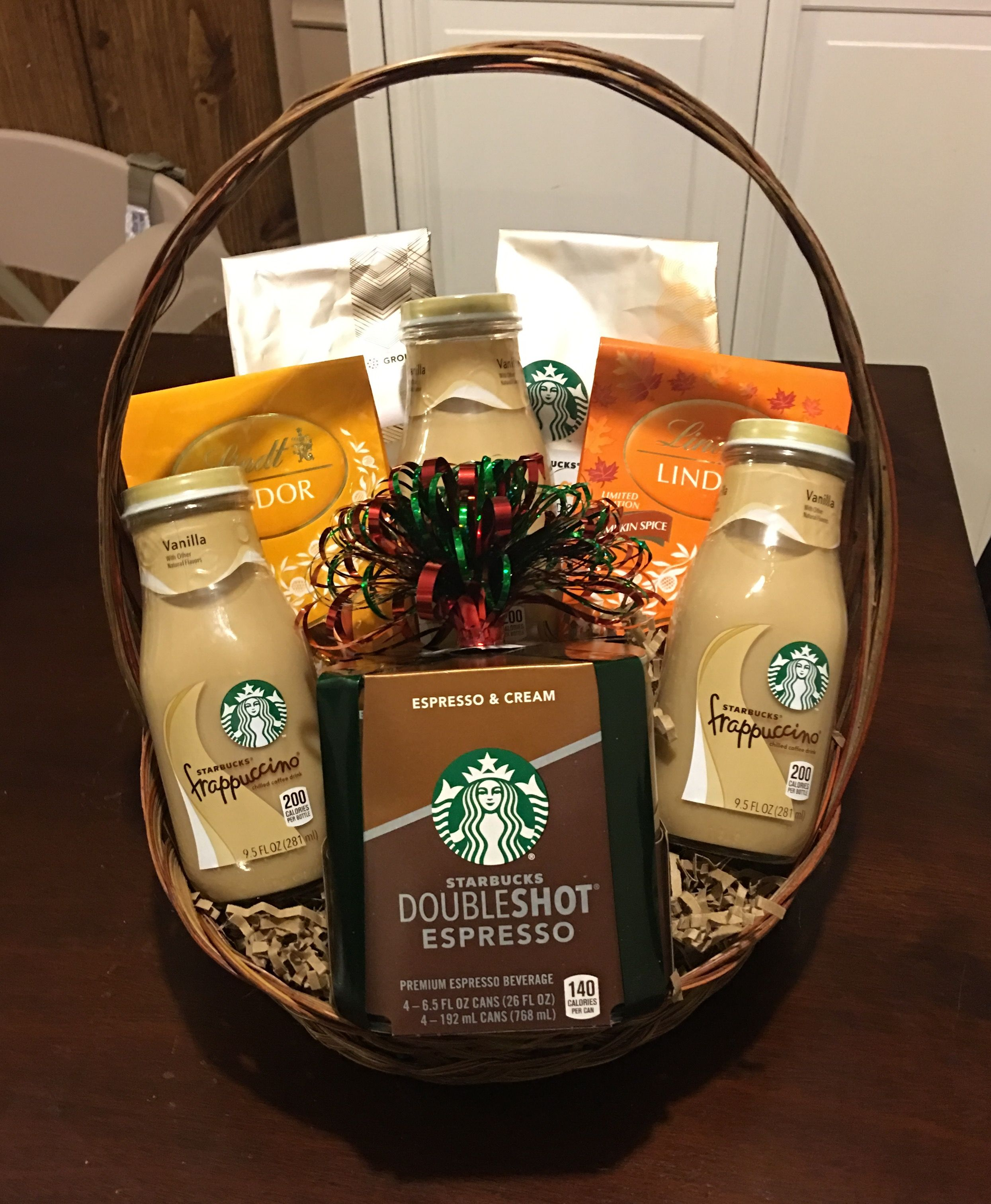 Starbucks/Lindor gift basket Coffee gift baskets, Office