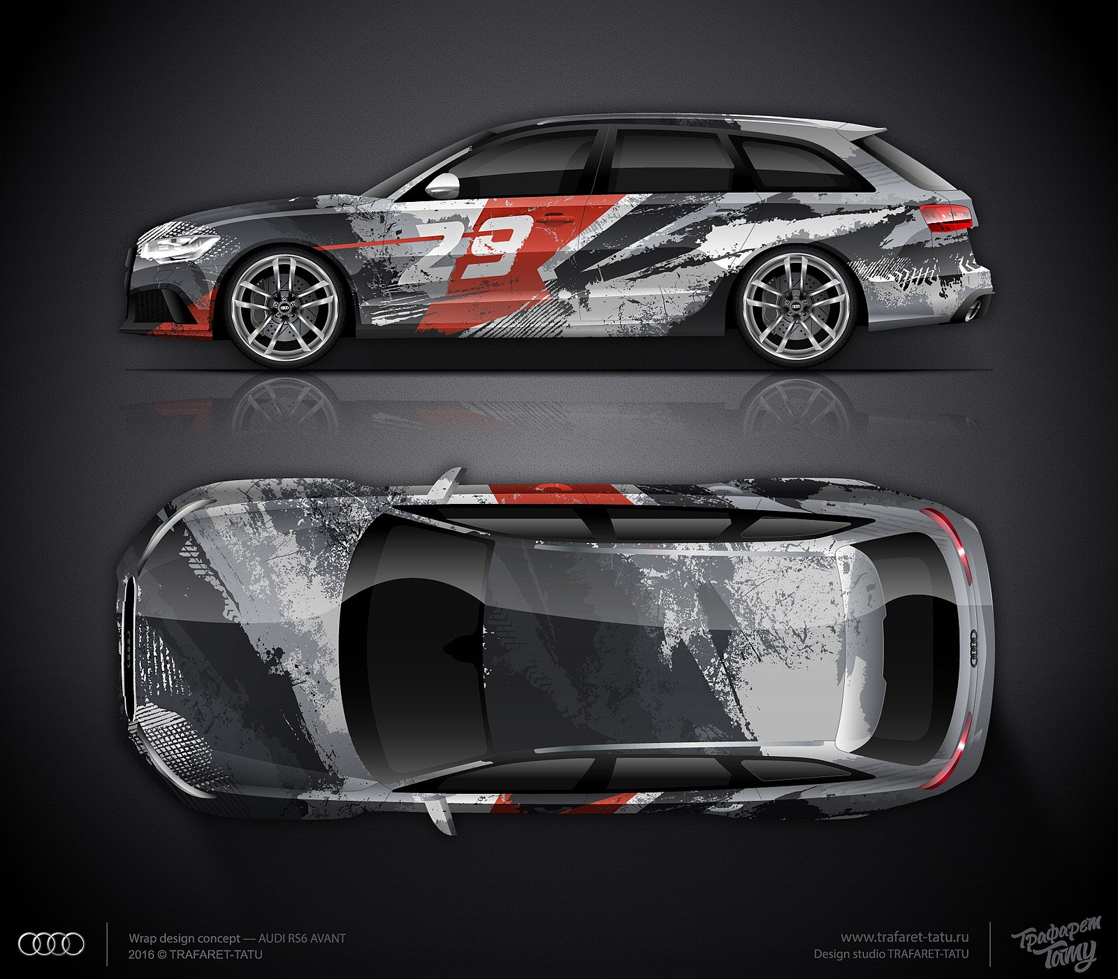 Car sticker design for sale - Design Concept 13 For Audi Rs6 Avant For Sale Car Stickersdesign