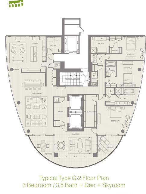 Luxury High Rise Condo For Sale In Dallas 3 Bedroom 3 5 Bath Condo Floor Plans Floor Plans Apartment Floor Plan