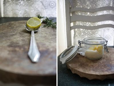 Zitronensorbet mit Rosmarin
