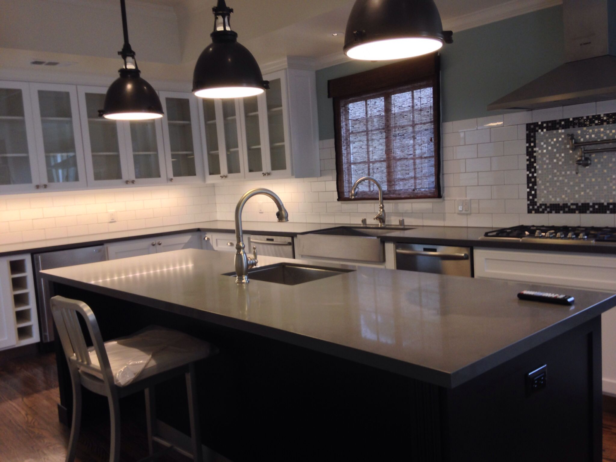 White Cabinets Caesarstone Concrete Counter Tops Large