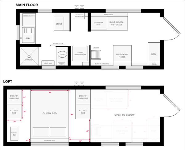 Easy Tiny House Floor Plan