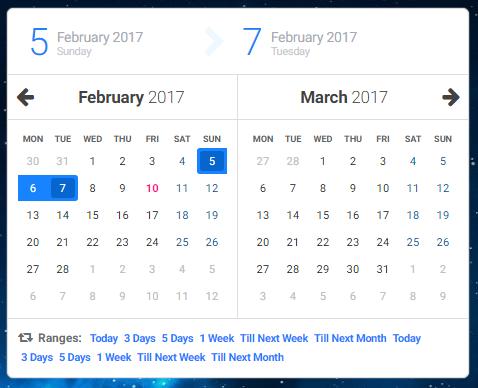 Caleran - Date Range Picker | Web UI Inspiration | Form