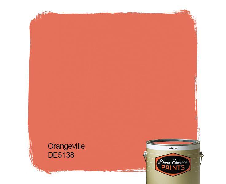 Dunn-Edwards Paints orange paint color: Orangeville DE5138 | Click for a free color sample #DunnEdwards