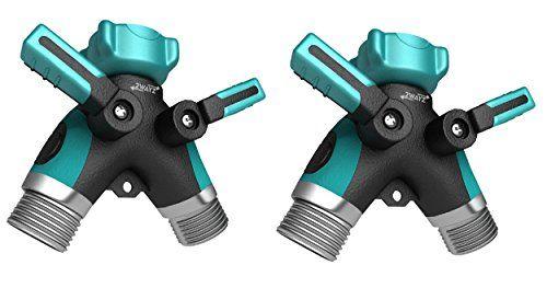 2 Pcs Of Garden Hose Splitter Hose To Hose Arthritis Friendly