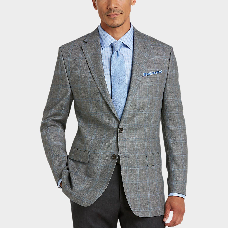 Gray Plaid Classic Fit Sport Coat - Men's Sport Coats - Lauren by Ralph  Lauren | Men's Wearhouse