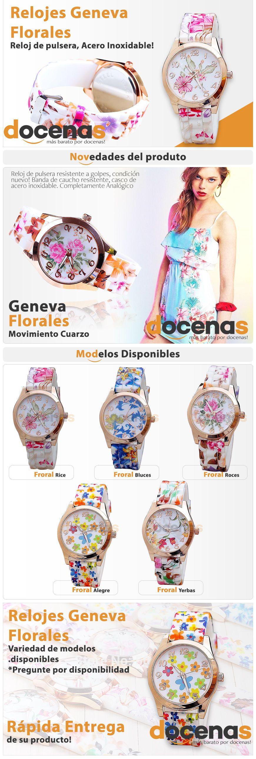 Anuncio, Relojes Geneva Florales. Cliente Docenas. Elaborado por iGrafi