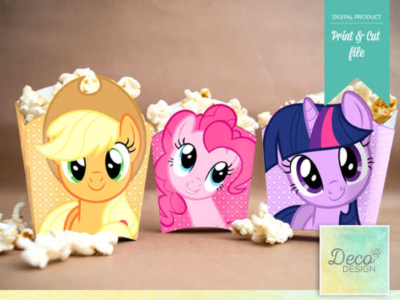 My Little Pony Popcorn Boxes For Candy Bar Products Little Pony
