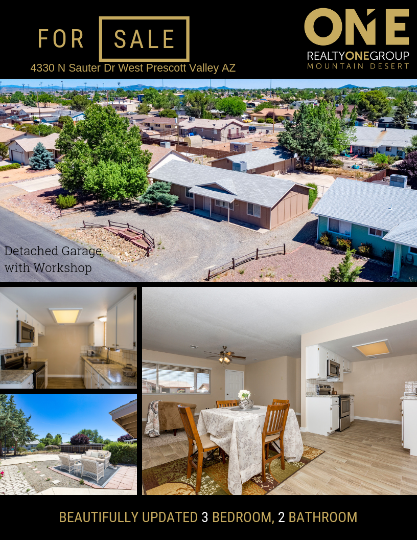 Beautifully Updated Prescott Valley Home Includes A Detached 850