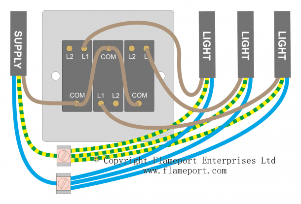 Light Switch Wiring, Wiring Diagram For Double Light Switch Uk