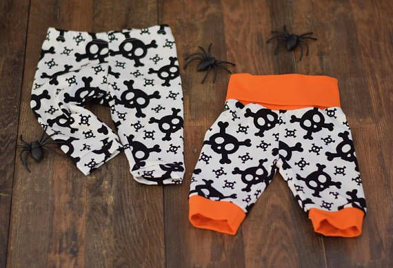 halloween leggings for newborn baby and toddler cute skulls leggings