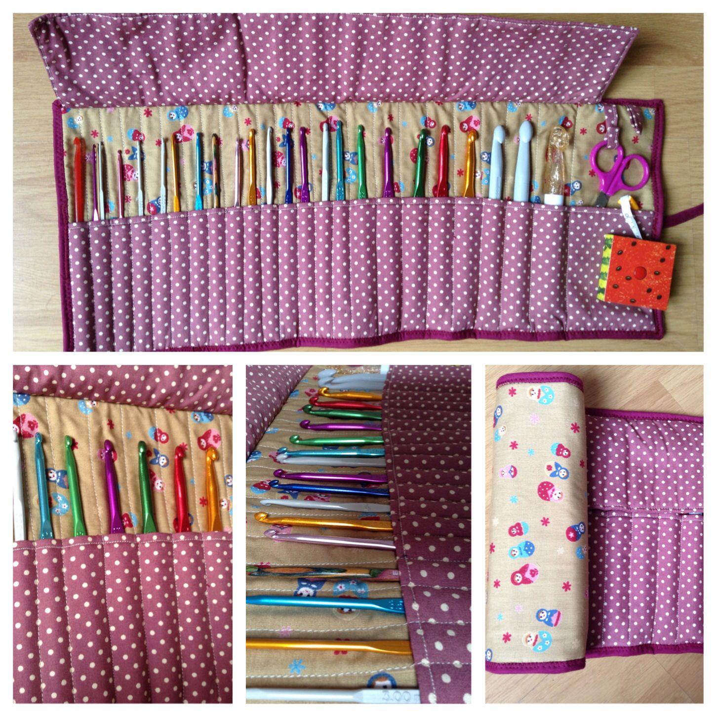 Funda para ganchillos #crochet #patchwork / hook case #handmade ...