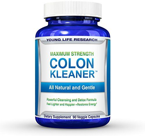 cool Colon Care Cleanse & Detox - For Colon Health, Weight Loss and Increased Energy. 90 Non-GMO Vegetarian Capsules - Soothing Herbal Blend Gently Relieves Bloating
