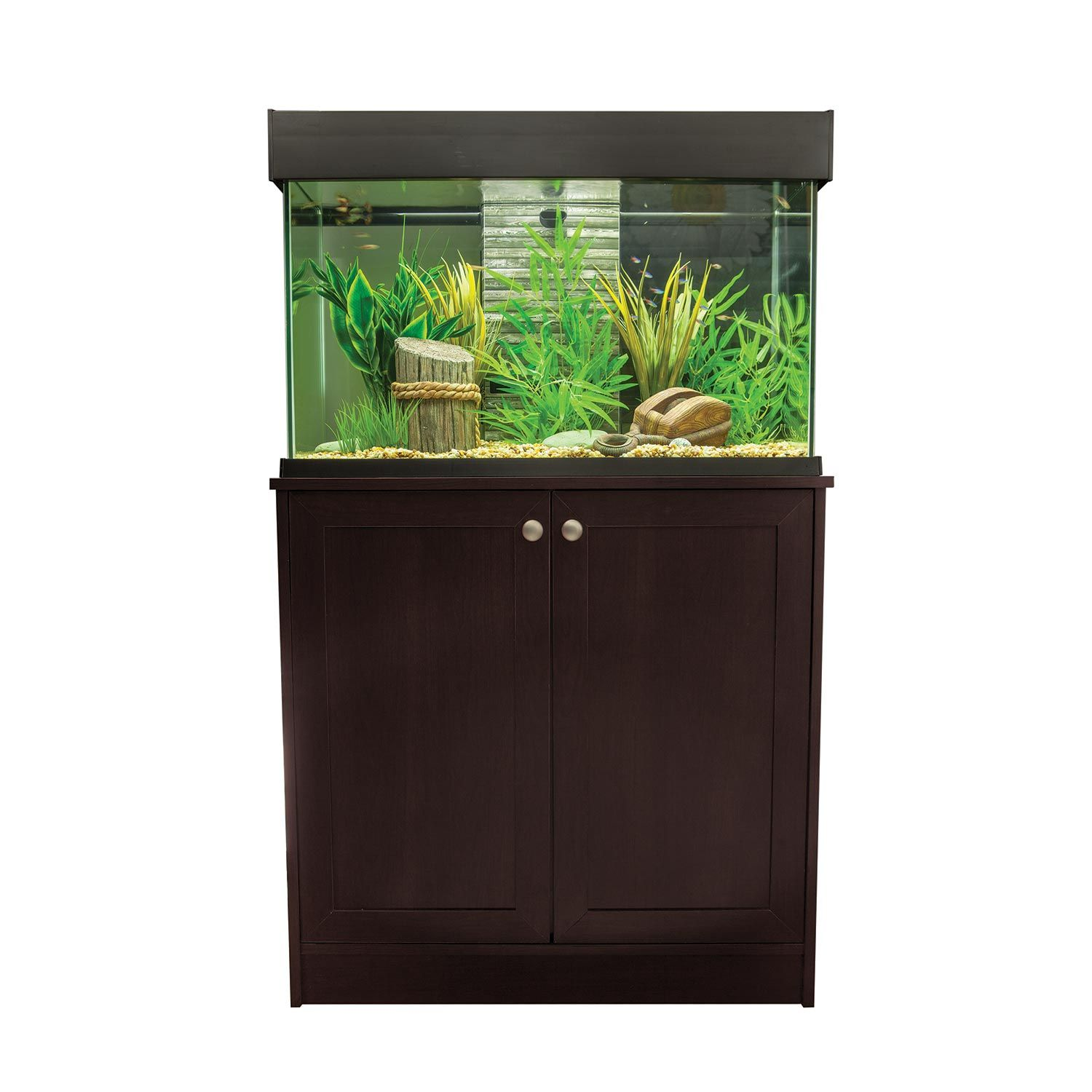 Fluval Accent Aquarium And Cabinet Combo In Espresso Aquarium Stand Aquarium Fish Tank