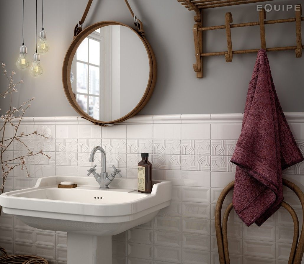 InMetro White Glossy 7,5x15   Bathroom tiling, Contemporary and ...