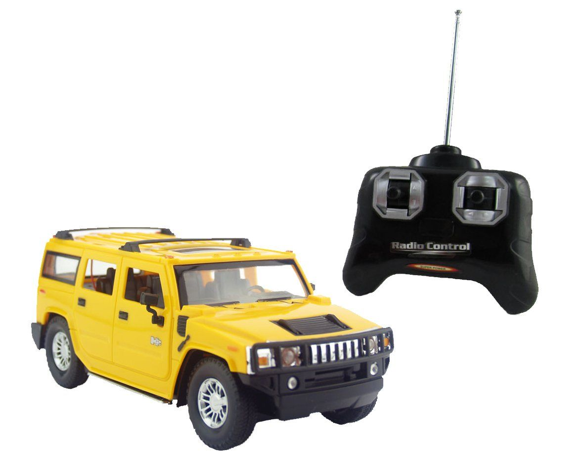 Liberty Imports Hummer H2 Suv Full Function R C Radio Remote Control Car 1 24 Scale H2 Suv Yellow Click T Remote Control Cars Hummer H2 Remote Control Trucks