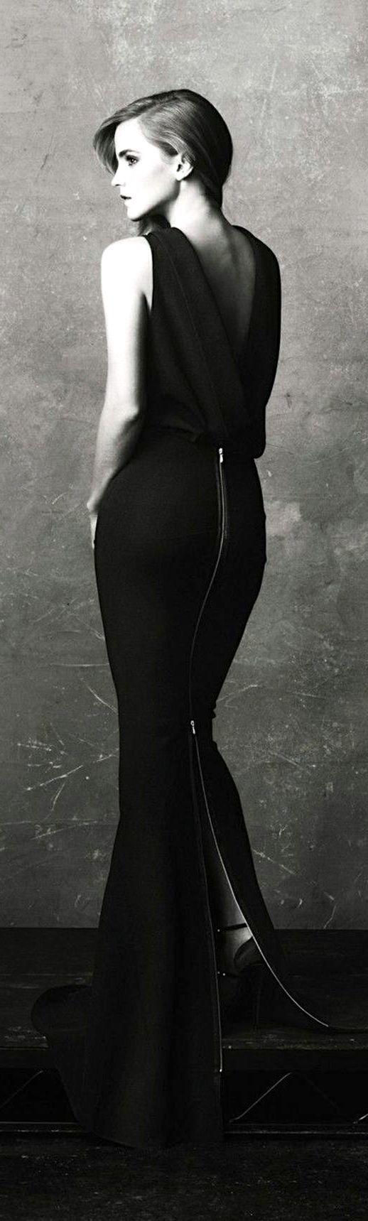 Long Cool Woman In A Black Dress Emma Watson Style Emma Watson Dresses [ 1719 x 518 Pixel ]