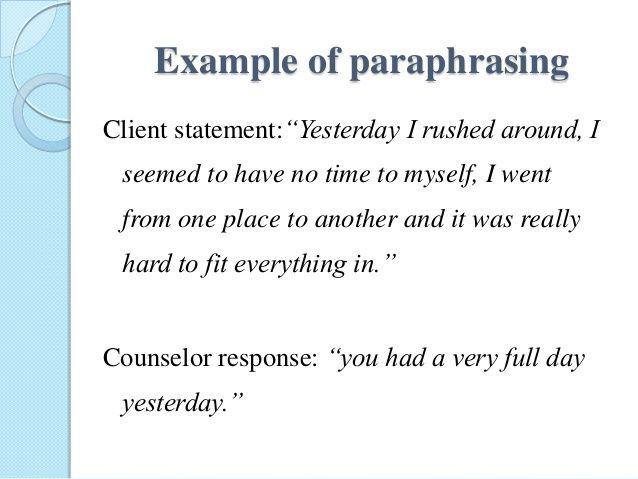 Meaning paraphrasing