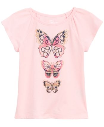 160bed877 Epic Threads Toddler Girls Butterfly-Print T-Shirt, Created for Macy's -  Pink 4T