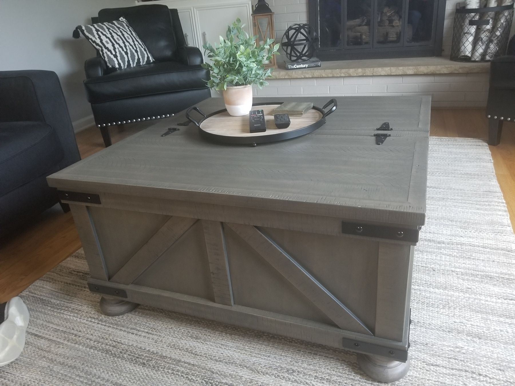 Aldwin Coffee Table With Lift Top Ashley Furniture Homestore Coffee Table Coffee Table Farmhouse Real Wood Table [ 1350 x 1800 Pixel ]
