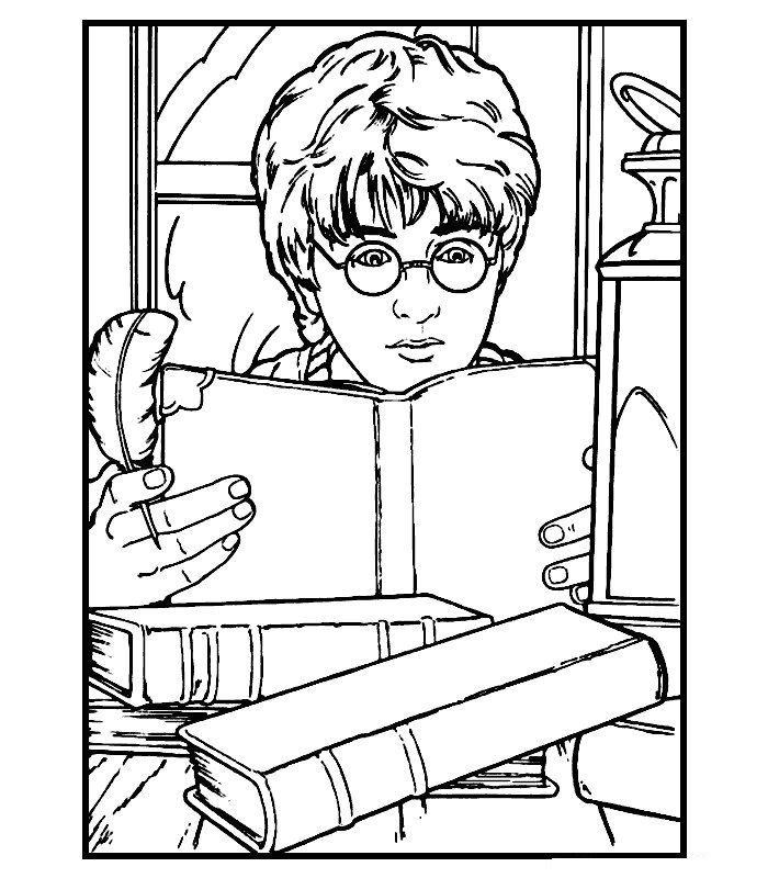 Harry Potter And Friends Coloring Pages Concept
