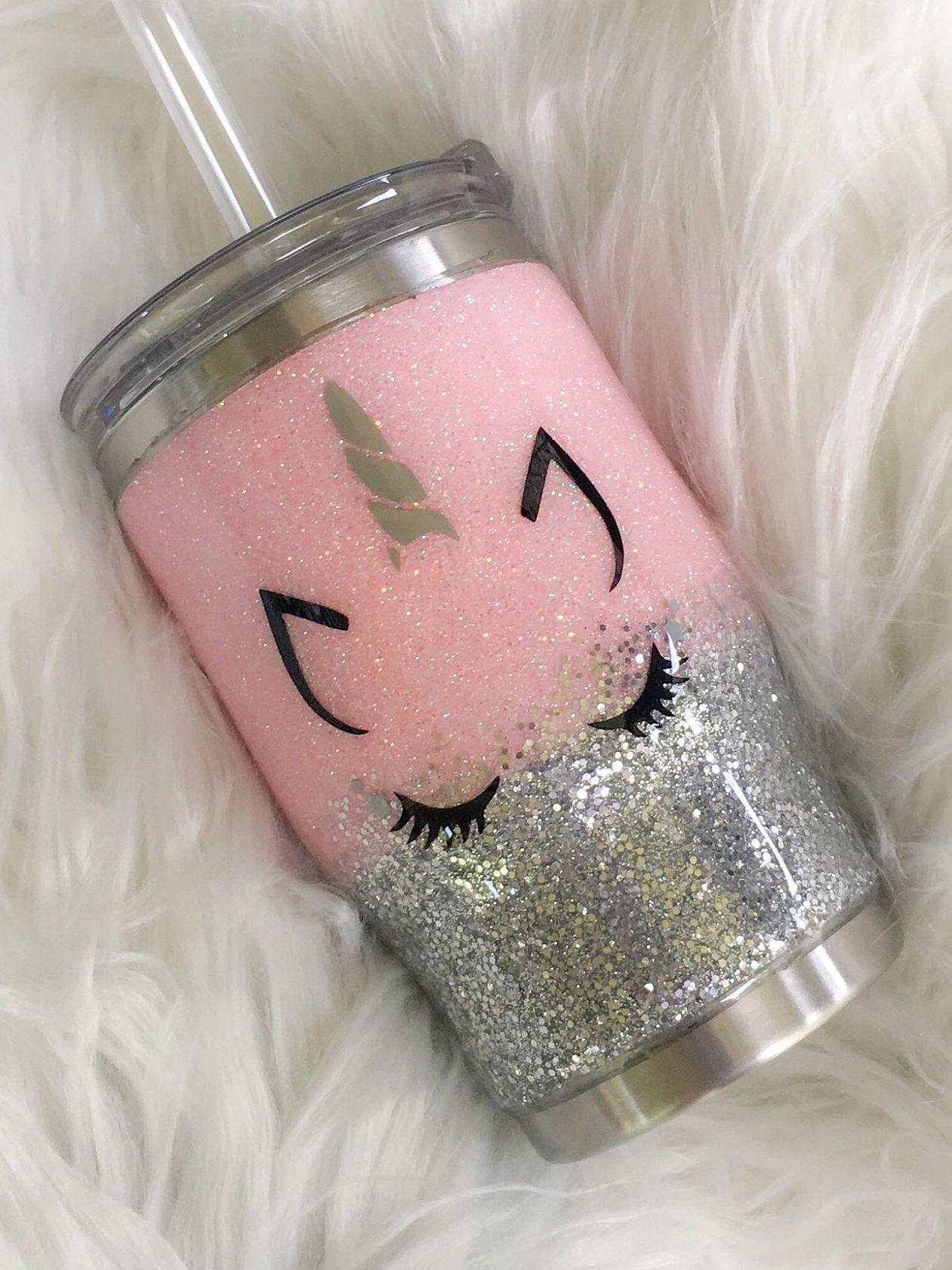 Glitter Tumbler, Unicorn Tumbler, Glitter Unicorn Tumbler, Kids Tumbler, Kids Unicorn Tumbler, Kids Glitter Unicorn Tumbler #cutecups