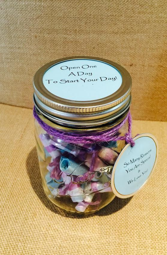 The Mason Jar Filled Notes Favors Thoughts Message Filled Jar