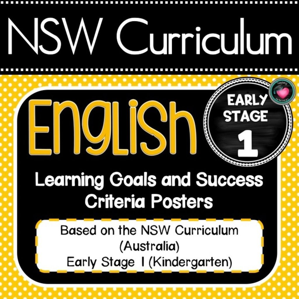 Early Stage 1 K Nsw Curriculum Learning Goals Bundle English Maths Science Geography History Teachin Learning Goals Curriculum Printable Teaching Resources [ 1024 x 1024 Pixel ]
