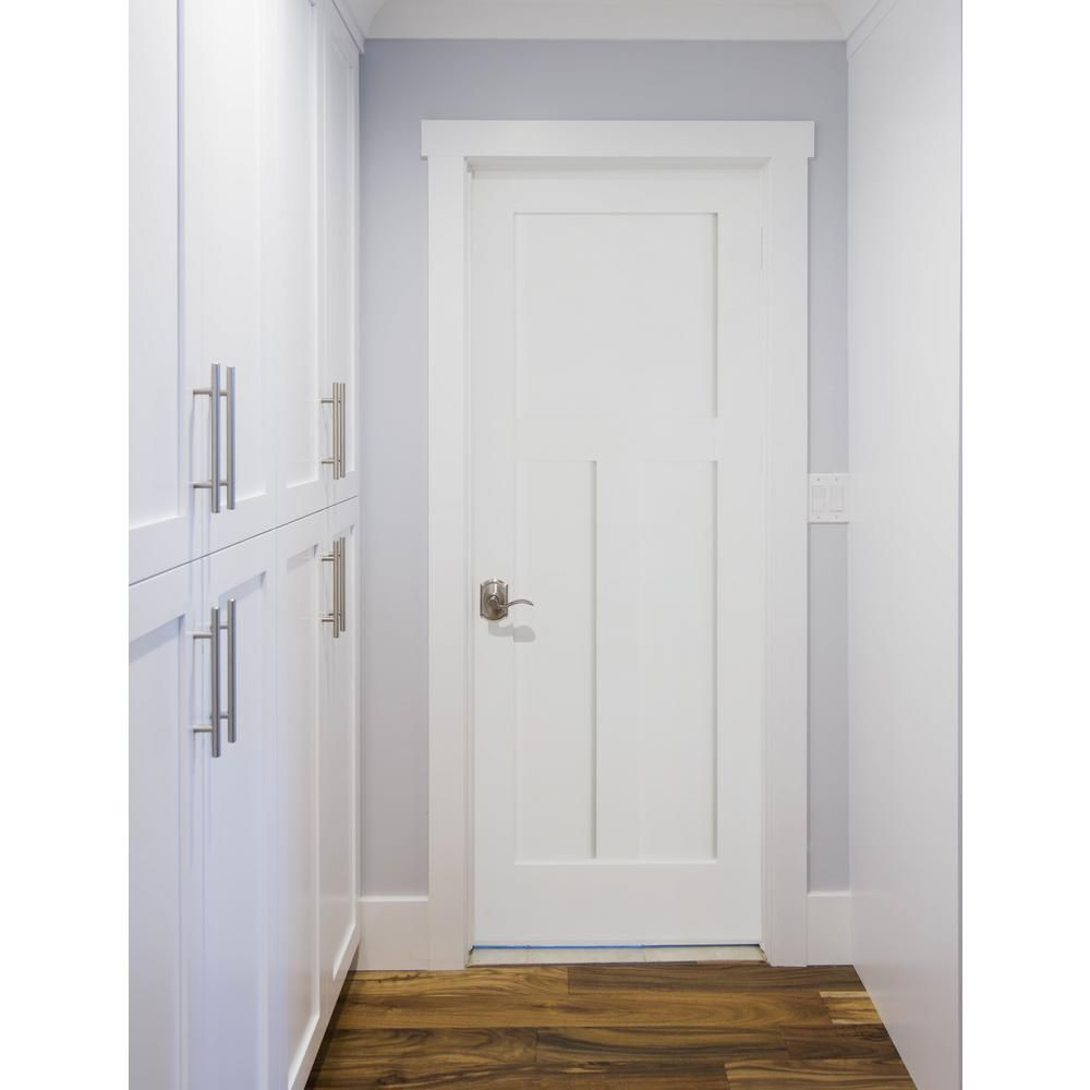 Krosswood Doors 30 In X 96 In Left Hand Craftsman Shaker 3 Panel Primed Solid Hybrid Core Mdf Single Prehung Interior Door Kw Sh125 2680 Lh The Home Depot Prehung Interior Doors Shaker Interior Doors Interior