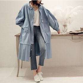 Gmarket - [Naning9] NANING9 Solid color long jacket / loose fi...