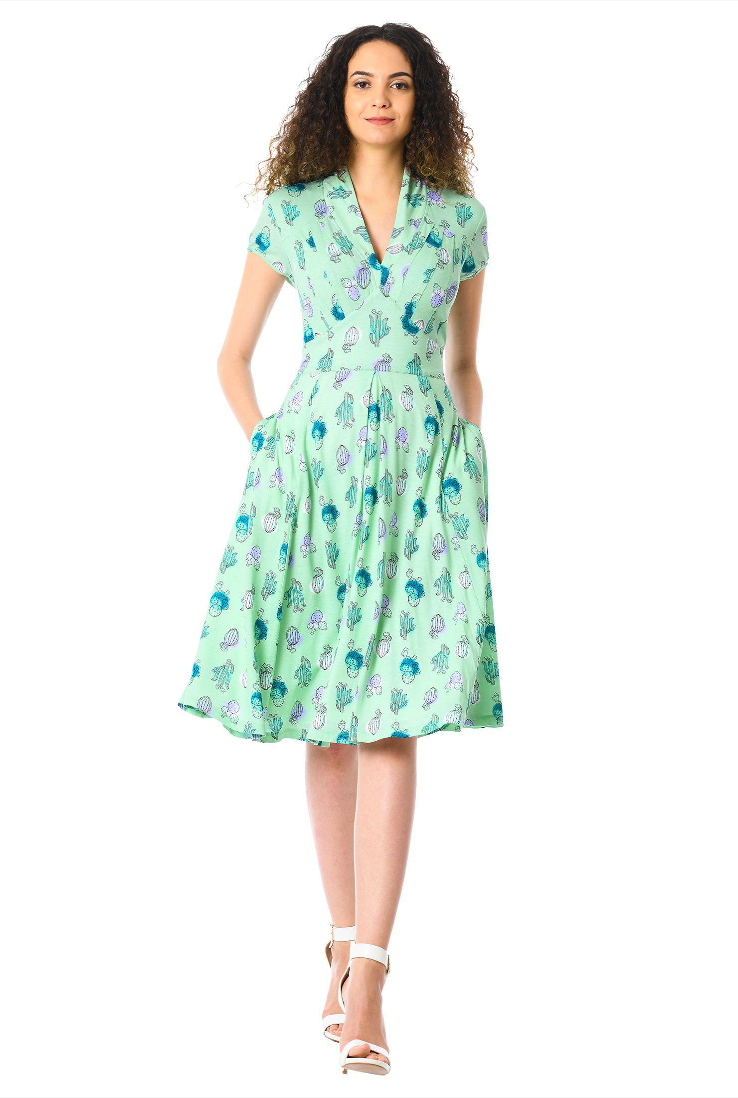 f23bd5c902c4 below knee length dresses, cap sleeve dresses, cotton/spandex Dresses, empire  waist dresses, feminine dresses, Fit and flare dresses, High back neck  dresses ...