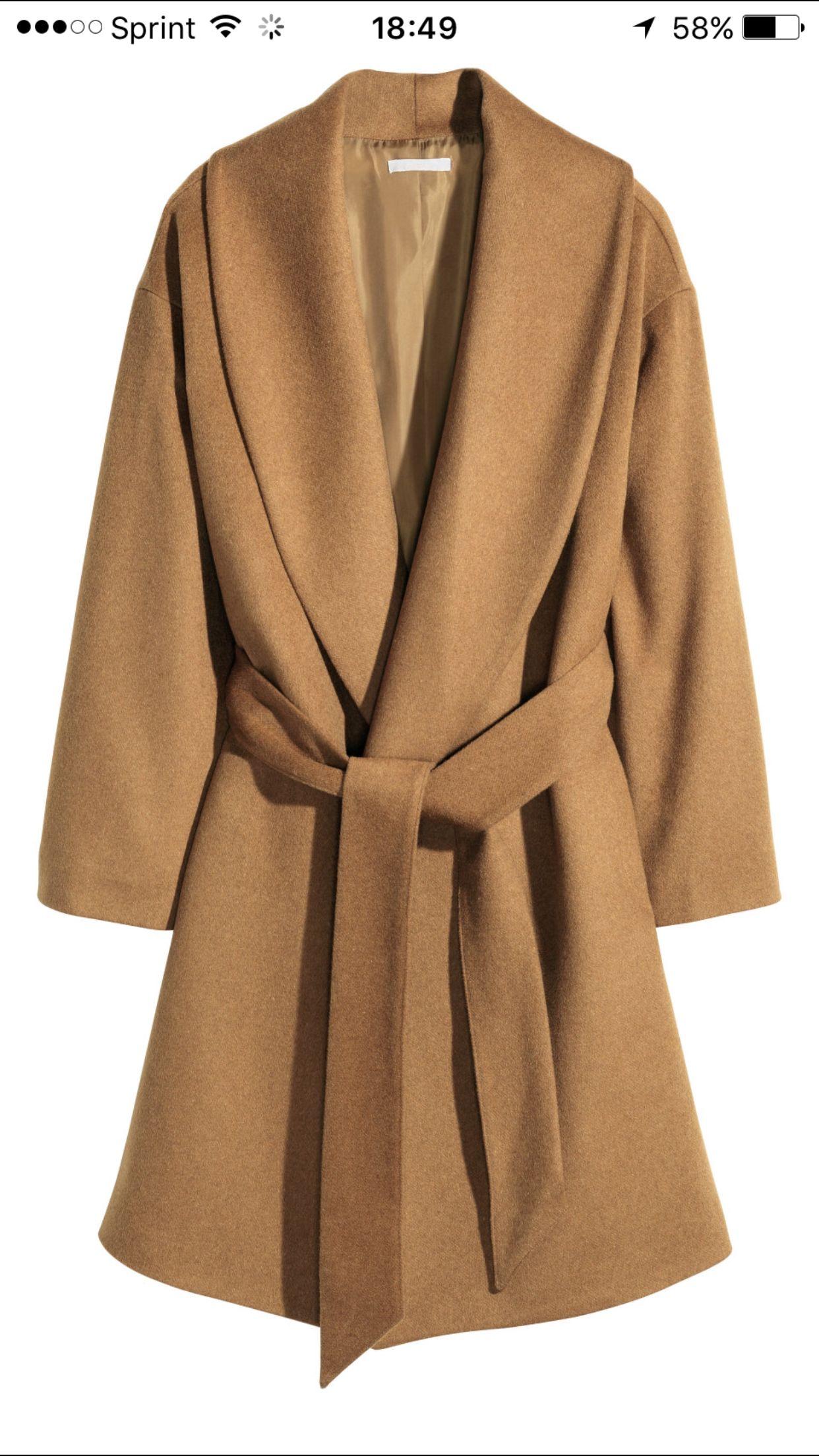 5623c72b36d8 Camel coat h&m | Clothes | Wrap coat, Camel coat, Wool coat