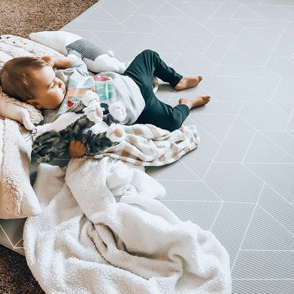 Little Bot Baby Play Mat Ofie Mat Zen Line Triangle Baby Play Mat Baby Play Baby Floor Mat