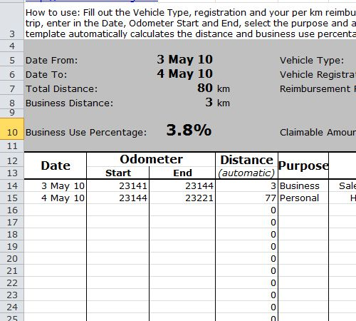 Car Mileage Log Book  Car Milege Log Book    Logs
