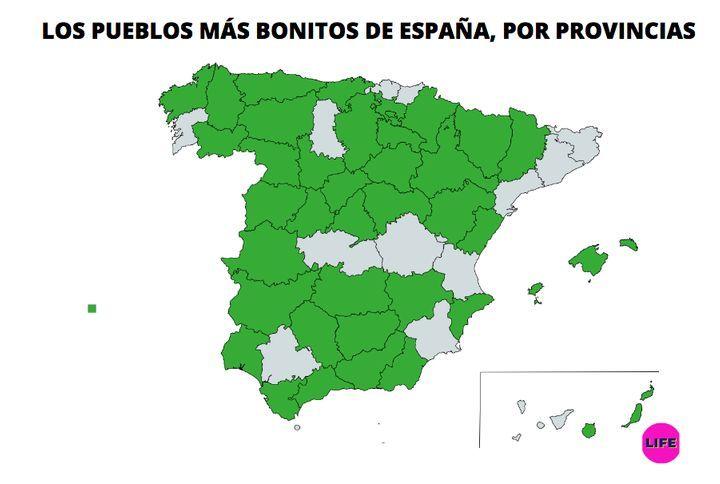 Cuáles son y dónde están los 94 pueblos más bonitos de España