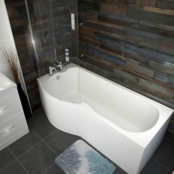 Patello B P Shaped Shower Bath Left Handed 1700