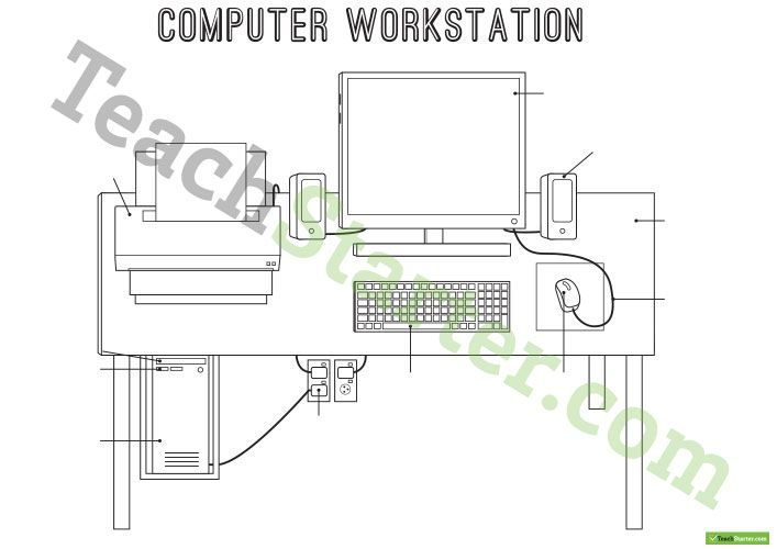 Technology Workstation Worksheet Desktop Computer Teaching