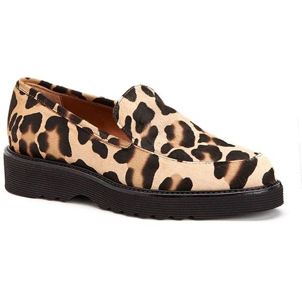 f966d1bc25e Aquatalia Kelsey Leopard-Print Calf Hair Loafers ( 450) ❤ liked on Polyvore  featuring shoes